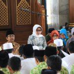 Bupati Jombang Hadiri Doa Bersama Jelang UNBK 2020
