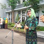 Dinas Kesehatan Lakukan Sosialisasi Pencegahan Virus Corona saat Apel Karyawan Pemkab Jombang