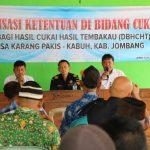 Gempur Rokok Ilegal, Dinas Kominfo Jombang dan Bea Cukai Kediri Adakan Sosialisasi di Kabuh