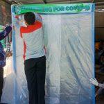 Cegah Covid-19, Warga Pasang Bilik Sterilisasi di Pintu Masuk Desa