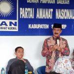 Gaet Dukungan, Fattah Jasin Hadir di Rapat Pleno DPD PAN Sumenep