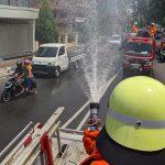 Cegah Penyebaran Covid-19, Pemkot Mojokerto Semprotkan 8 Ribu Liter Disinfektan di Jalur Utama Kota