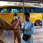 Screening Penumpang Bus di Jember, Penumpang dari Bali Bersuhu Badan 38