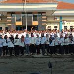 Sidak, Sekda Pimpin Apel di Dinas PUPR Kabupaten Jombang