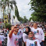 Tangkal Corona, Pemkab Jombang Gelar Kampanye Pola Hidup Sehat di Car Free Day