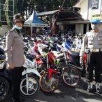 Razia Balap Liar, Polres Pamekasan Amankan 113 Sepeda Motor