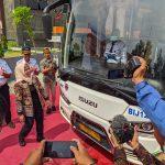 Menuju Kota Pariwisata, Walikota Mojokerto Launching Angkutan ke Bandara Juanda