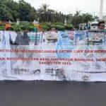 Cegah Virus Corona, Aktivis Jakarta Demo Minta Pasar Hewan Ditutup