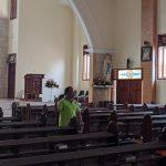 Imbas Covid-19, Peribadatan di Gereja Katolik Mojokerto Ditiadakan