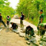 Di Tengah Geger Corona, TNI Semangat Melaksanakan TMMD ke-107 di Ngawi