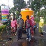 Cegah Corona, 2.500 Liter Disinfektan Hujani Jalan Raya hingga Gang di Lumajang