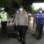 Kawasan Tertib Physical Distancing, Polisi Tutup Jalan Wahid Hasyim Jombang