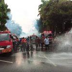 Penyemprotan Disinfektan di Jalanan Sebuah Banyolan, Ini Kata WHO