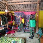 Tangkal Corona, Rumah Singgah Anggota TMMD Ngawi, Disemprot Disinfektan