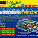 Jalan Kawasan Physical Distancing Sidoarjo, Ditutup