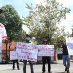 FRMJ Demo, Tuntut Pemkab Jombang Jujur Terkait Data Covid-19