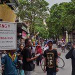 PKL Jalan Niaga Kota Mojokerto Usir Petugas Satpol PP