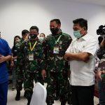 Moeldoko Serahkan Sejumlah Alat Medis kepada RS Darurat Covid-19 di Wisma Atlet