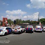 Cegah Penyebaran Covid-19, Satlantas Polres Blitar Pasang Sticker One Way di Mobil Patroli