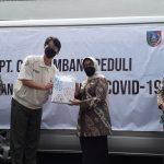 Peduli Covid-19, PT CJI Bantu Ratusan Alat Rapid Test ke Pemkab Jombang