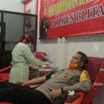 Stok Darah PMI Menipis, Polres Blitar Kota Gelar Donor Darah