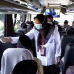 Video: Ratusan Santri Lirboyo Asal Mojokerto Menjalani Cek Suhu Tubuh