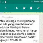 Ramai di Medsos Dokter Asal Diwek Jombang Positif Corona, Gugus Tugas: Hoaks!