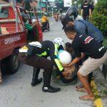 Leher Terjerat Benang Layangan, Pesepeda Motor di Situbondo Tabrak Pembatas Jalan