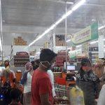 Bravo Supermarket di Jombang Padat Pengunjung, Abaikan Physical Distancing