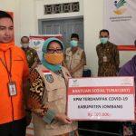 Bupati Mundjidah Wahab Launching BLT Kemensos RI di Kantor Pos Jombang