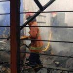 Ruang Koperasi dan Parkiran SMPN 1 Balongbendo Sidoarjo Terbakar