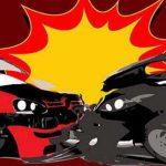 Avanza vs Honda Jazz Adu Banteng di Sidoarjo, Tiga Orang Terluka