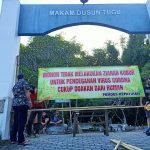 Tangkal Corona, Idul Fitri Dua TPU dan Akses Jalan Desa di Jombang Ditutup