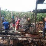 Teledor Bakar Sampah, Kandang Puyuh di Blitar Hangus Terbakar