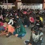Bergerombol Saat Corona, 48 Remaja Digelandang ke Mapolres Pasuruan Kota