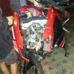 Tabrakan Honda GL Vs Ninja di Pacet Mojokerto, Satu Nyawa Melayang