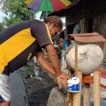 Gentong Disulap Jadi Wastafel Cuci Tangan, Bentuk Protes Warga Pilang Kota Probolinggo