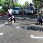 Mirip Sirkuit MotoGP, Jalanan di Nganjuk Diberi Garis Pembatas Pengendara