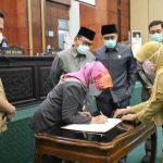 Dok, 3 Raperda Disetujui pada Rapat Paripurna DPRD Jombang