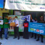 Kasus Positif Covid-19 Terus Naik, PC Ansor Jombang Sosialisasi Hidup Sehat