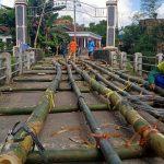 Jembatan Antar Desa di Tulungagung Amblas, Warga Swadaya Buat Jembatan Sasak