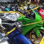 Belum Diambil Pemiliknya, Ratusan Motor Hasil Razia Mangkrak di Satlantas Polresta Sidoarjo