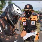 Pelanggar Protokol Kesehatan di Surabaya Terekam CCTV