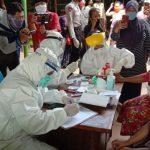 Covid-19, Ogah Dirapid Test, Pedagang Pasar Taman Sidoarjo Dijemput Petugas