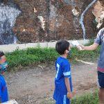 Sekolah Sepak Bola di Jember Mulai Latihan , Suhu Badan Siswa Harus Aman