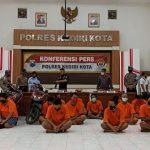 Polresta Kediri Tangkap 26 Tersangka Berbagai Kejahatan dalam Dua Bulan