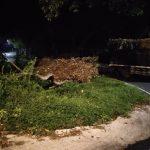 Rem Blong, Truk Gandeng Muat Tebu di Blitar Terguling
