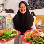 Nasi Uduk Warna Hijau dan Pink Berbahan Alami, Ada di Kota Probolinggo