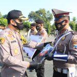 Kapolres Pasuruan, Serahkan Bantuan Mobil Double Cabin dari Mabes Polri