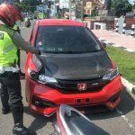 Polres Blitar Bubarkan Balap Mobil Liar, Satu Honda Jazz Diamankan